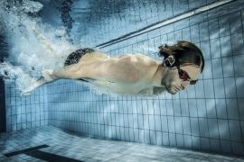 Camille Lacourt for Sony's new Underwater Walkman