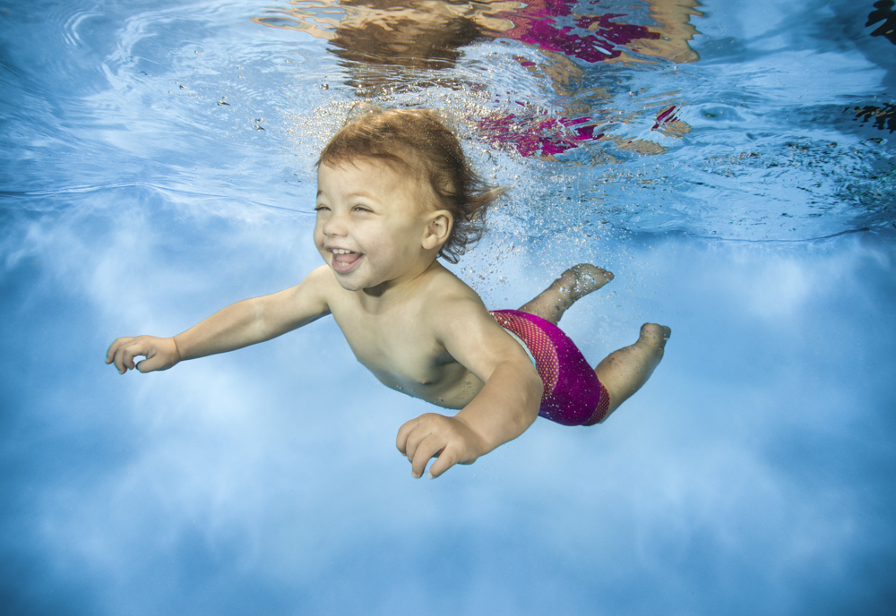Underwater photography services for baby and child swim schools